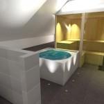 Badplanung - Blick auf die Sauna