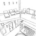 Planung Wellnessbereich Zeichnung