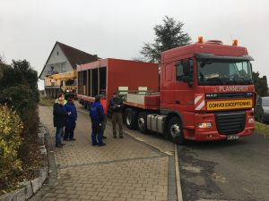 Gondelsauna im Kristall Palm Beach - Schwertransport