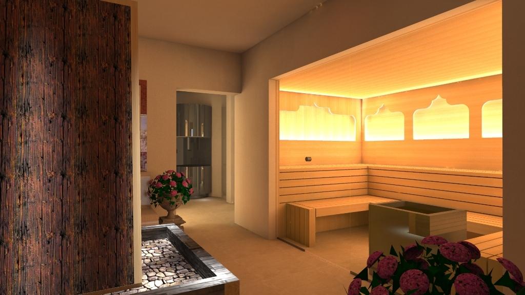 Die Kräuter-Sauna mit orientalische anmutung