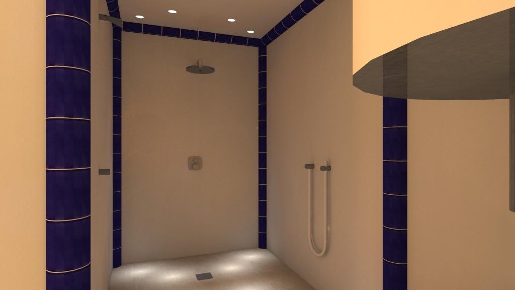 Der Duschbereich mit Schwallbrause und Kneippschlauch