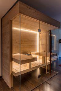 Sauna Eiche modern