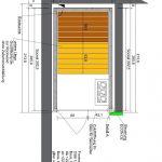 Kleine Sauna - Grundriss